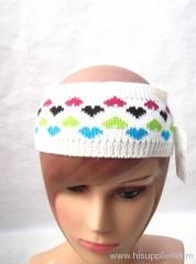 Acrylic jacquard knitted headband