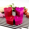 Wedding Valentine Red Pillar Heart Shaped Craft Candle Gifts