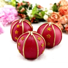 Wedding Red Ball Craft Gift Candle Product