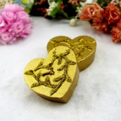 Wedding Holiday Golden Hearted Craft Candle Gifts