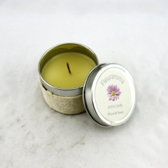 Yellow Fragrance Tin Candle Holder (RC-284)