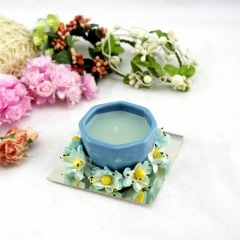 Blue Ceramic Bowl Candle Holder (RC-338)