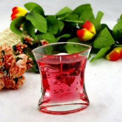 Red Glass Jelly Candle Holder (RC-511&RC-512)