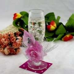 Glass Crystal Jelly Candle Holder (RC-515)