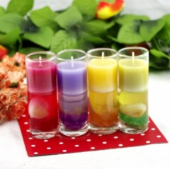 Glass Colour Shell Jelly Candle Holder (RC-490&RC-513&RC-516)
