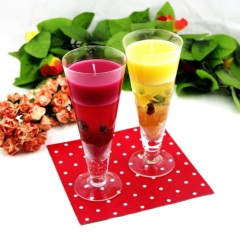 Glass Colour Jelly Candle Holder (RC-488&RC-489)