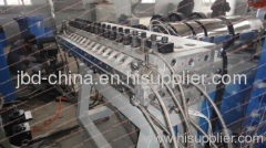 WPC construction template extrusion line