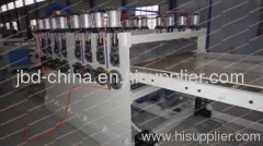 wood plastic building template extrusion line