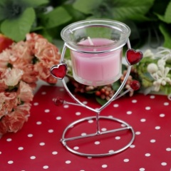 Glass Iron Candle Holder (RC-495)