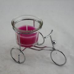Bike Glass Candle Holder (RC-541)
