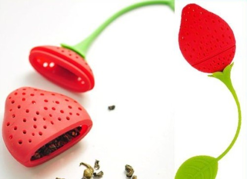 Fruit shaped silicone tea infuser