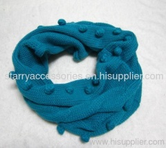 Acrylic cable knitted snood