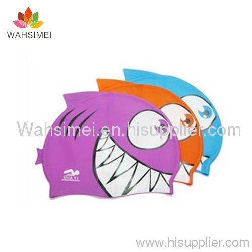 Children silicone swim cap