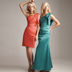 satin-bridesmaid gowns