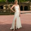 Newest split front Chiffon Voyage Wedding Dress
