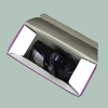 Single layer corrugated carton box for hair drier