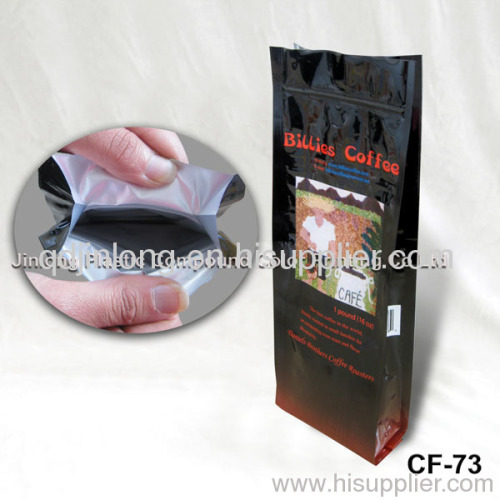 terminated side gusset coffee pouch
