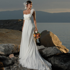 Newest Perfect Chiffon Beach Wedding Dresses