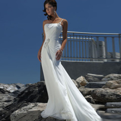 Newest Simple Chiffon Beach Wedding Dresses
