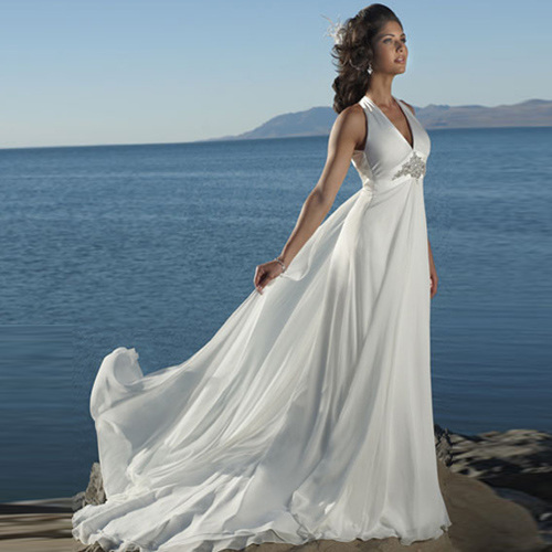 Vintage Wedding Dresses Usa: Newest Perfect Halter Beach Wedding Dresses From China