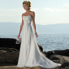 Strapless Chiffon Beach Wedding Dresses