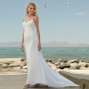 New Long Designer Chiffon Beach Wedding Dresses