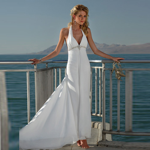 Perfect Halter Beach Wedding Dresses 2013 From China