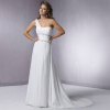 Beautiful One-Shoulder Chiffon Beach Wedding Dresses