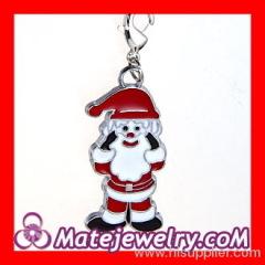 Enamel Christmas Santa Claus Charms