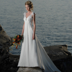 Long Designer Chiffon Beach Wedding Dresses