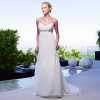 Newest White Chiffon Beach Wedding Dresses