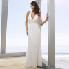 Long Halter Chiffon Beach Wedding Dresses