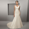 Newest Silk Taffeta Beach Wedding Dresses