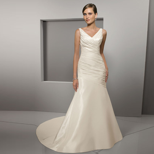 Silk Taffeta Wedding Gowns: Newest Silk Taffeta Beach Wedding Dresses From China