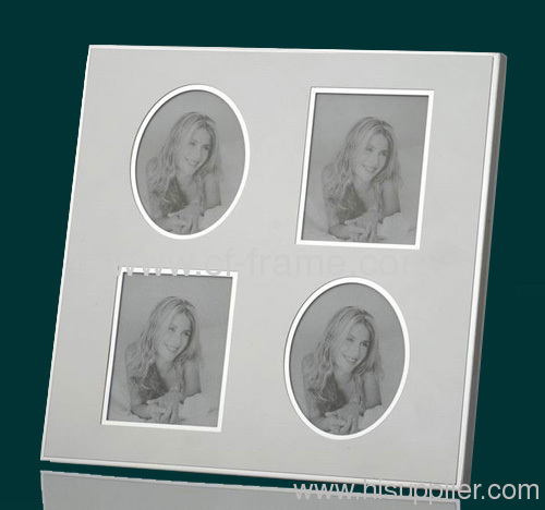 3x3 Silver Standard Metal Four Opening Picture Frame