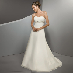 Beautiful A-line Strapless Beach Wedding Dresses