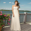 Simple Chiffon Empire Waist Beach Wedding Dress