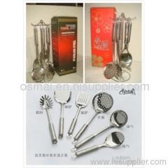 Rose seven sets of kitchen utensils