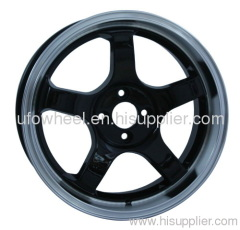 ALLOY WHEEL black machine lip