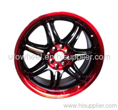 Alloy Wheel RED LINE BLACK