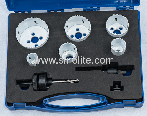 HSS Bi-metal hole saw set 8pcs