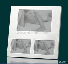 4x6 sliver standard aluminum three Opening photo Frame