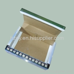 Single layer corrugated carton box for radio receiver