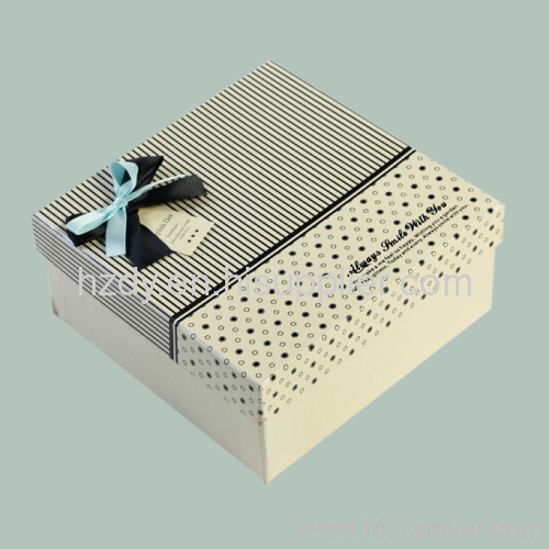 350g white card paper box for gift