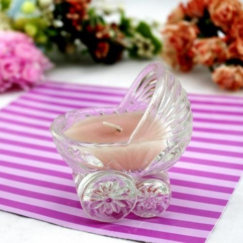 Art Glass Stroller Craft Candle Holder