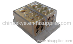 Power Distribution Block 2x4Ga in 8x8GA out