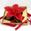 Flower Wood Gift Box Craft Candle (RC-517)