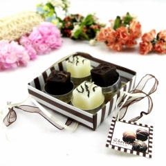 Chocolate Tea Light Promotion Gift Box Candle
