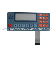 custom-made membrane switch keypad/membrane switch panel LCD window