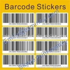 Custom barcode labels,custom pre printed barcode labels